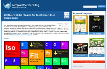 http://blog.templatemonster.com/2012/08/30/jquery-slider-plugins/