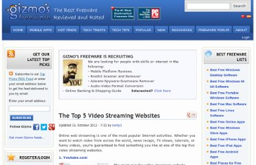 http://www.techsupportalert.com/top-5-video-streaming-websites.htm