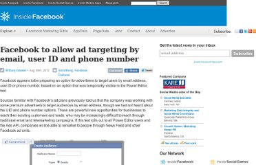 http://www.insidefacebook.com/2012/08/30/facebook-may-soon-allow-ad-targeting-by-email-user-id-and-phone-number/