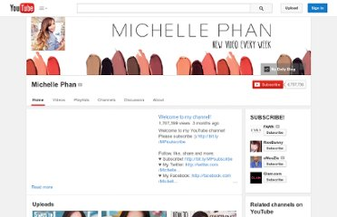 http://www.youtube.com/user/MichellePhan