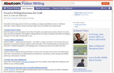 http://fictionwriting.about.com/od/writingexercises/tp/craftexercises.htm