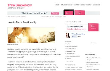 http://thinksimplenow.com/relationships/how-to-end-a-relationship/