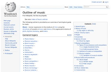 http://en.wikipedia.org/wiki/Outline_of_music