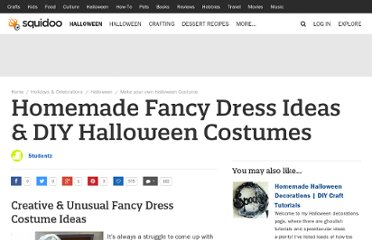 http://www.squidoo.com/handmade-diy-fancy-dress-costume-ideas