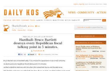 http://www.dailykos.com/story/2011/07/28/999759/-Hardball-Bruce-Bartlett-desroys-every-Republican-fiscal-talking-point-in-5-minutes