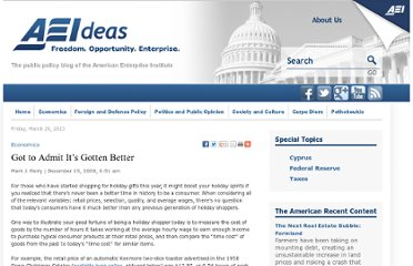 http://www.aei-ideas.org/2009/12/got-to-admit-its-gotten-better/