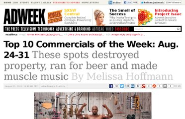 http://www.adweek.com/news/advertising-branding/top-10-commercials-week-aug-24-31-143247