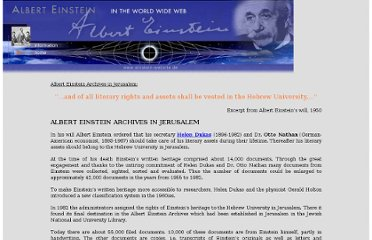 http://www.einstein-website.de/z_information/einsteinarchives.html