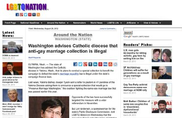 http://www.lgbtqnation.com/2012/08/washington-state-advises-catholic-diocese-that-collection-effort-is-illegal/