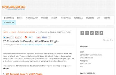 http://pelfusion.com/20-tutorials-to-develop-wordpress-plugin/