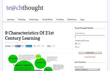 http://www.teachthought.com/learning/9-characteristics-of-21st-century-learning/