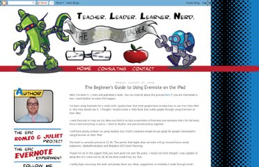 http://www.thenerdyteacher.com/2012/08/the-beginners-guide-to-using-evernote.html