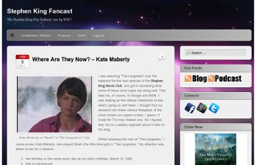 http://stephenkingfan.com/2012/01/09/where-are-they-now-kate-maberly/