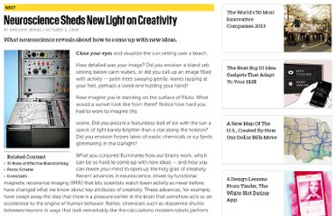 http://www.fastcompany.com/1007044/neuroscience-sheds-new-light-creativity