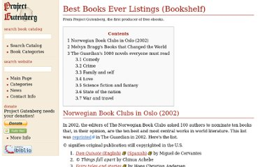 http://www.gutenberg.org/wiki/Best_Books_Ever_Listings_%28Bookshelf%29