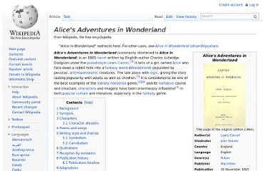 http://en.wikipedia.org/wiki/Alice%27s_Adventures_in_Wonderland