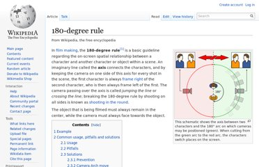 http://en.wikipedia.org/wiki/180-degree_rule