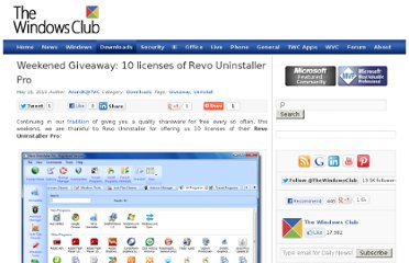 http://www.thewindowsclub.com/weekened-giveaway-10-licenses-of-revo-uninstaller-pro