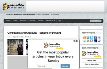http://www.innovationexcellence.com/blog/2012/09/01/constraints-and-creativity-schools-of-thought/