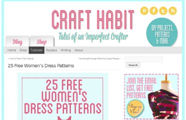 http://www.crafthabit.com/2012/08/23/25-free-womens-dress-patterns/