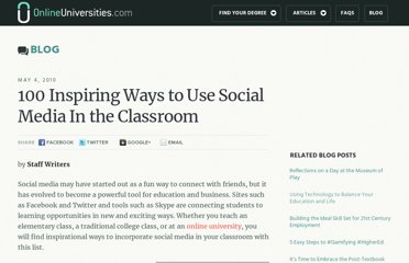 http://www.onlineuniversities.com/blog/2010/05/100-inspiring-ways-to-use-social-media-in-the-classroom/