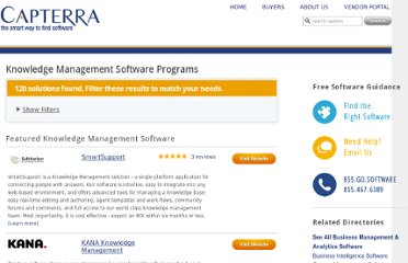 http://www.capterra.com/knowledge-management-software/software_news/prweb1553554