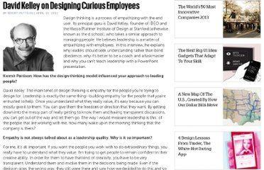 http://www.fastcompany.com/1746447/david-kelley-designing-curious-employees