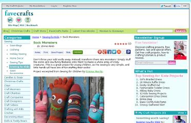 http://www.favecrafts.com/Sewing-for-Kids/Sock-Monsters/ml/1