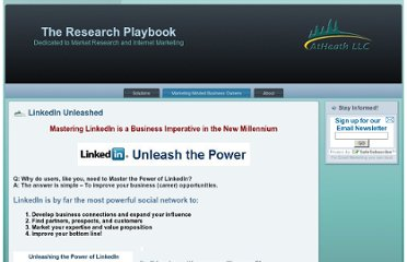 http://researchplaybook.com/marketing-minded-business-owners/linkedin-unleashed/