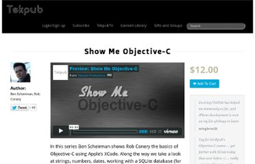 http://tekpub.com/productions/objectivec