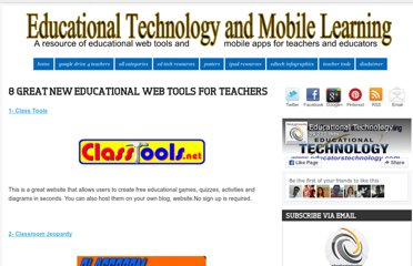 http://www.educatorstechnology.com/2012/09/8-great-new-educational-web-tools-for.html