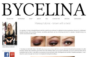 http://bycelina.com/beauty-2/makeup-tutorials/makeup-tutorial-brown-with-a-twist/