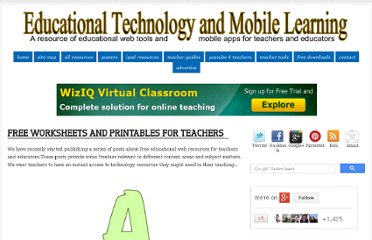 http://www.educatorstechnology.com/2012/09/free-worksheets-and-printables-for.html