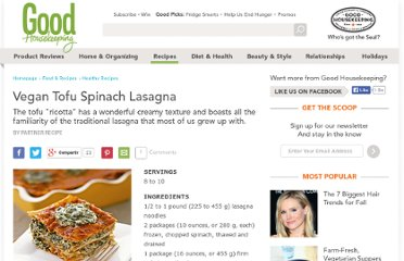 http://www.thedailygreen.com/healthy-eating/recipes/vegan-tofu-spinach-lasagna