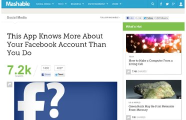 http://mashable.com/2012/09/03/this-app-knows-more-about-your-facebook-account-than-you-do/
