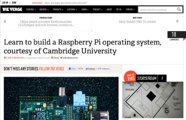 http://www.theverge.com/2012/9/3/3289384/cambridge-raspberry-pi-tutorial