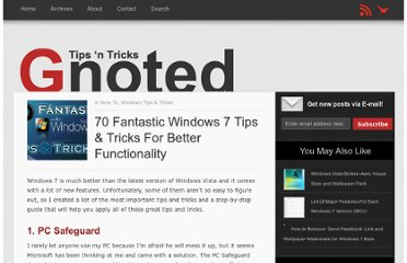 http://gnoted.com/70-fantastic-windows-7-tips-tricks-for-better-functionality/