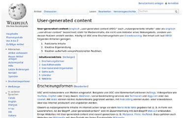http://de.wikipedia.org/wiki/User-generated_content
