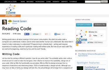 http://java.dzone.com/articles/reading-code