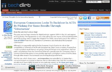 http://www.techdirt.com/articles/20120903/12084220257/european-commission-looks-to-backdoor-acta-pushing-same-results-through-voluntarism.shtml