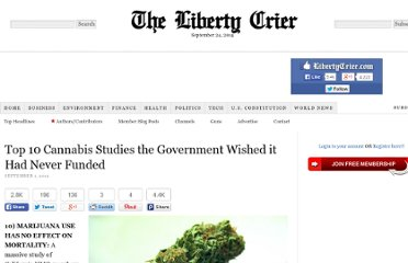 http://libertycrier.com/government/top-10-cannabis-studies-the-government-wished-it-had-never-funded/