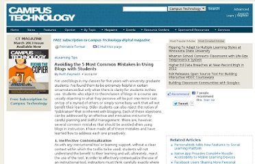 http://campustechnology.com/articles/2008/10/avoiding-the-5-most-common-mistakes-in-using-blogs-with-students.aspx