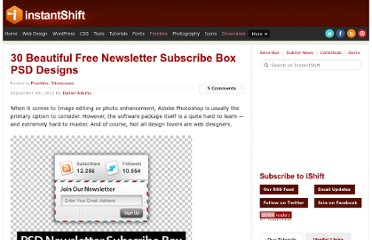 http://www.instantshift.com/2012/09/04/30-beautiful-free-newsletter-subscribe-box-psd-designs/