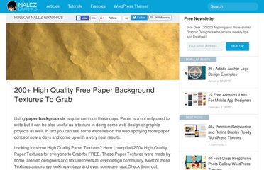 http://naldzgraphics.net/freebies/200-high-quality-free-paper-textures-to-grab/