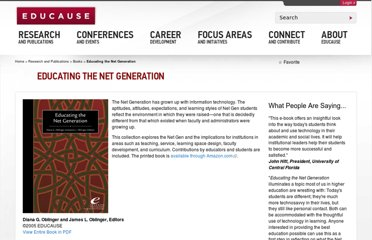 http://www.educause.edu/research-and-publications/books/educating-net-generation