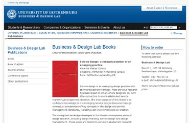 http://www.bdl.gu.se/Students+%26+Researchers/business---design-lab-publications/