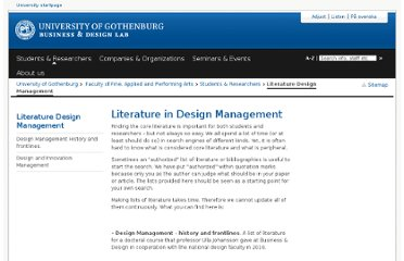 http://www.bdl.gu.se/Students+%26+Researchers/Literature+Design+Management/
