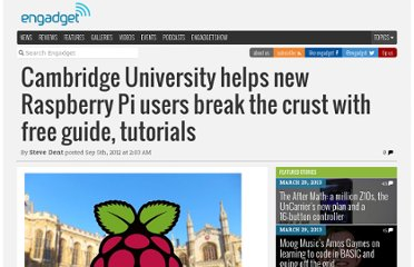 http://www.engadget.com/2012/09/05/cambridge-university-raspberry-pi-guide/