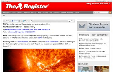 http://www.theregister.co.uk/2012/09/05/solar_filament_video/