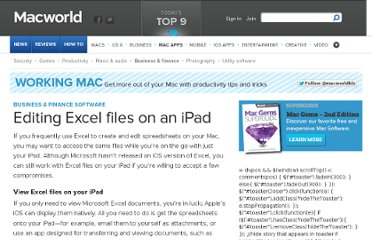 http://www.macworld.com/article/1168325/editing_excel_files_on_an_ipad.html